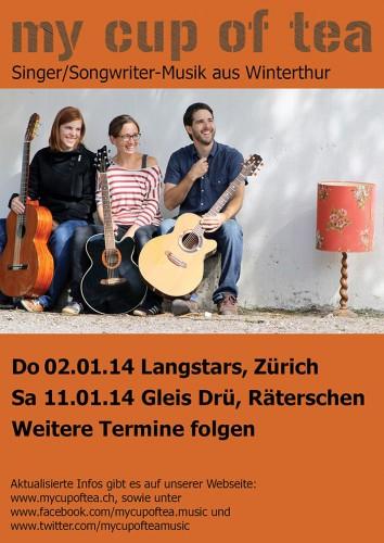 Flyer zu den Konzerten im Januar