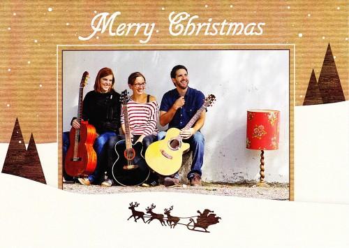 Weihnachtliches Bandfoto