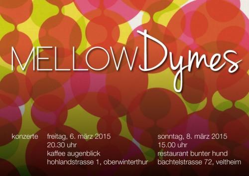 Konzert Flyer Mellow Dymes 2015