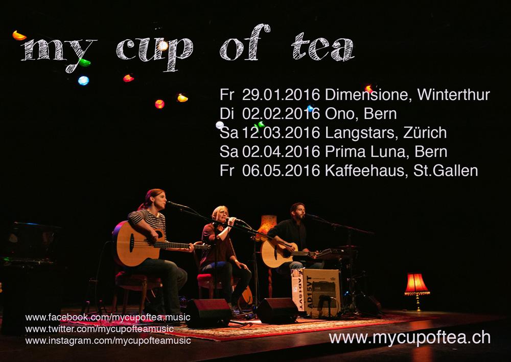 Konzertflyer my cup of tea 2016